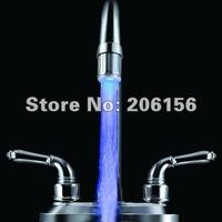 free shipping Water Glow LED Faucet Light Temperature Sensor