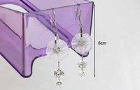 sparkly кристалл циркона цветок падает дешевые ювелирные изделия Серьги ers-e97