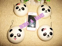 New Cute jumbo 10 cm panda baby squishy charm / mobile phone strap Pendant
