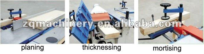 ZCW333 Multipurpose Woodworking Machine(mortiser , thicknesser, surface planer) )