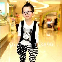 Wholesale - 2012 new boy's T-shirt, ma3 jia3 false two individual character long sleeve T-shirt