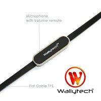 wallytech как плоский кабель стерео наушники-вкладыши наушники для iPhone 4S с микрофоном и объем пульт дистанционного управления для iPhone 3GS для iPad