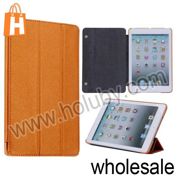 For Retina iPad Mini Case,Cross Pattern Leather Case for iPad Mini