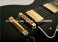 Гитара Hot selling! Black Custom Guitar Electric guitar with black pickguard Guitar golden tuningkeys+hard case In stock