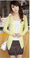 Женский кардиган CO-002 Women's Knitting Clothing Fashion Knitwear Lace Back Cardigan Lady Knitted Sweater Coat