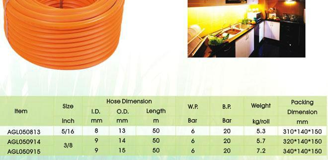 AGL PVC Air hose ISO9001-2008