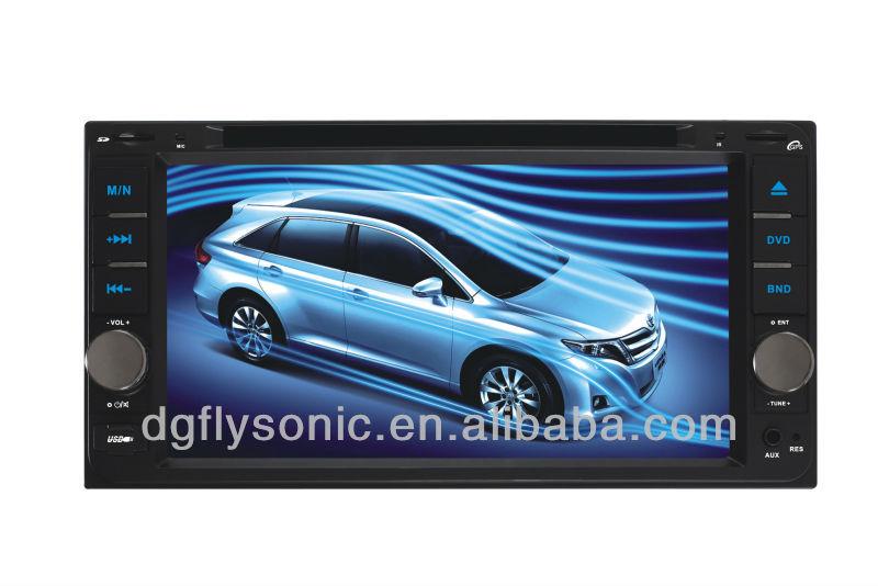 HOT double din car dvd with GPSFM/TV/AV/USB/SD/DVD