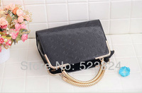 Free shipping new quality fashion leopard design women's handbag patent leather shoulder bag