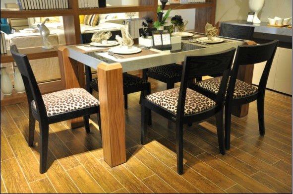 Mesa de comedor vidrio for Comedores de madera y vidrio