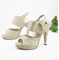 Туфли на высоком каблуке New post-2012 Summer new women's shoes platform fish-mouth fish mouth high heels Rome shoes women sandals