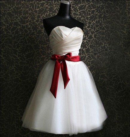 New Korean wedding dress fashion bride dress white evening short gowns bridesmaid dress Bra wedding toast clothes Free shipping