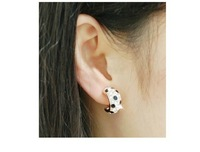 Серьги-гвоздики South Korea Elegant and generous panther Crystal grain ear ring