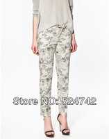 Женские брюки KZ20 new arrval womens' fashion Skinny floral print trousers pants casual elegant slim hot item high quality brand
