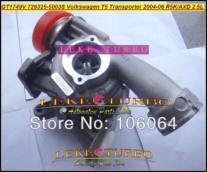 GT1749V 729325-5003S Turbocharger for VOLKSWAGEN T5 Transporter R5K AXD 2.5L 130HP 2004-2006 TURBO (3)