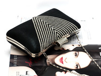 Вечерняя сумка 2013New high-grade diamond women Evening bag boutique atmosphere lady handbag bag for party colors available