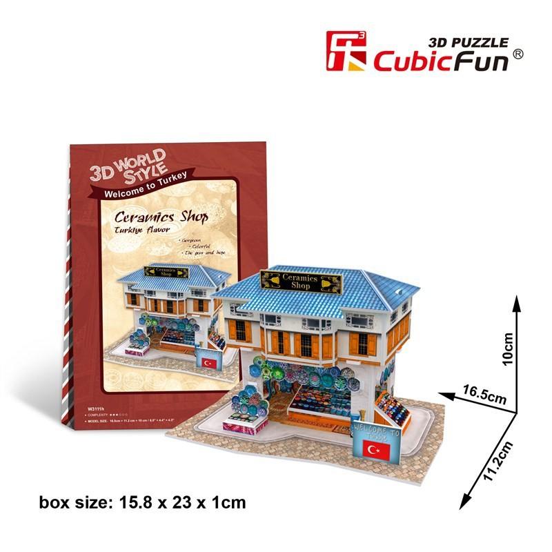 Пазл 3D puzzle cubic Fun W3109 W3110 W3111 W3112 DIY 3D W3109  W3110  W3111  W3112