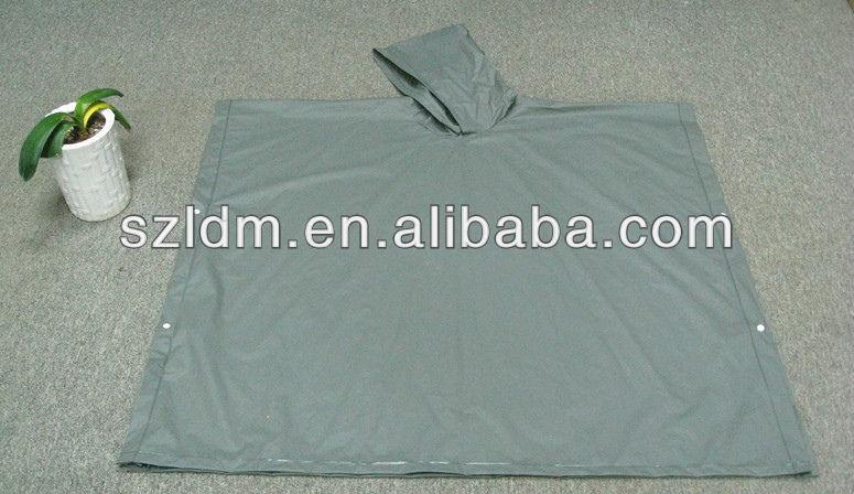 Waterproof Cheap Yellow Polyester PVC bicycle rain poncho