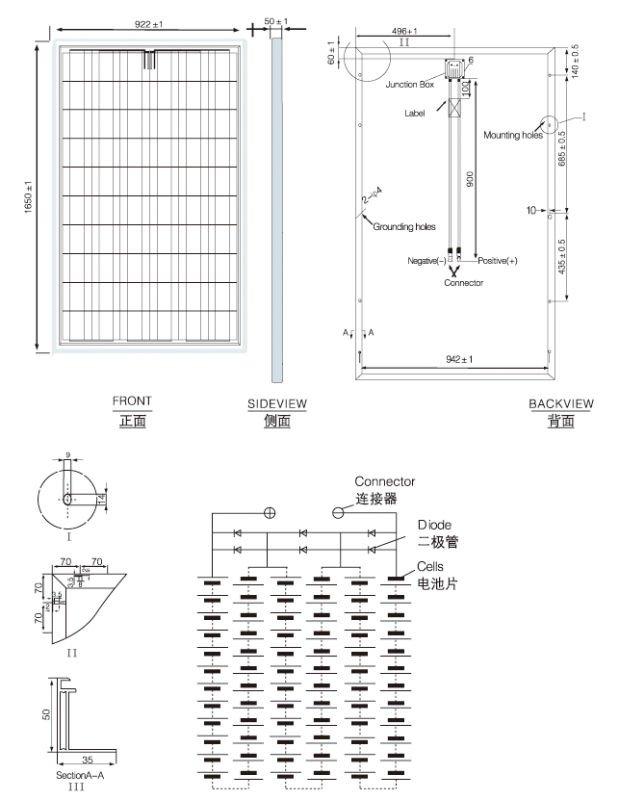 poly crystalline Silicon Solar Module 200-250Wp