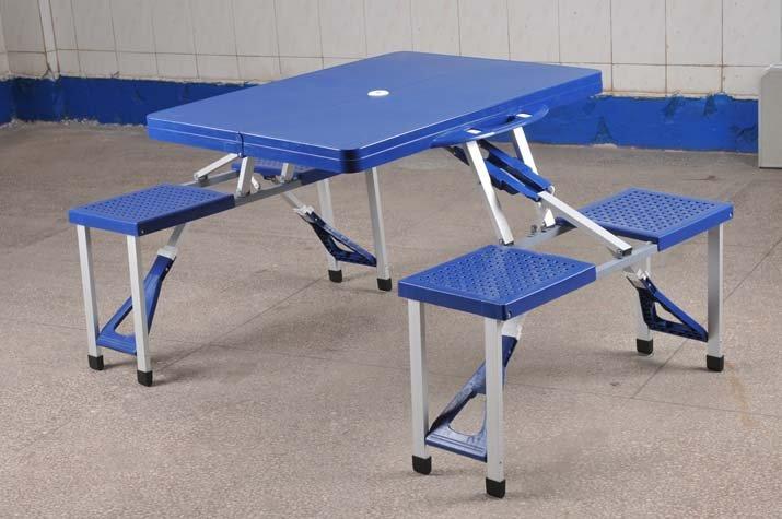 Mesa de pl stico e cadeiras de mesa dobr vel mesas - Mesa plegable con sillas dentro ...