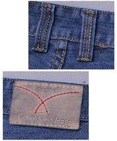 Мужские джинсы oversized plus size jeans men pajama, size 38, 40, 42, 44, 46, 48, 50, straight leg + mid rise + basic style