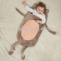 Детский комбинезон-пижама Baby Accessories Products Boy/Girl Sleeping Bag Newborn Soft Flannel Blanket Sleepers Cartoon Animal Model 1pcs