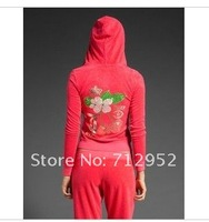 Женские толстовки и Кофты 2012 new fashion flower sportsuit, lady tracksuit Velour tracksuit