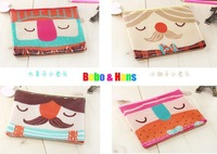 Сумка для канцелярии New cute PVC cartoon moustache style Pencil bag / A5 grid file bag