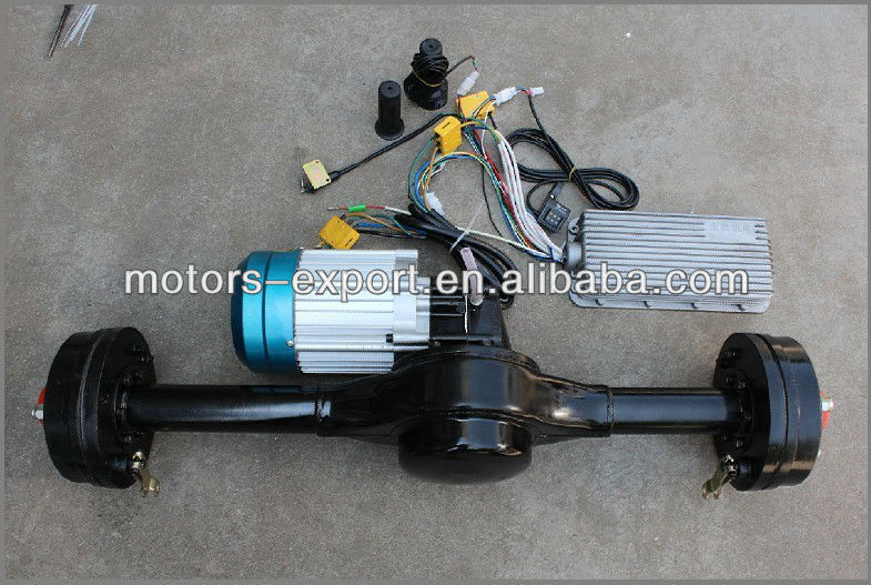 60v 800w Dc Brushless Motor With Rear Axle View Tricycle