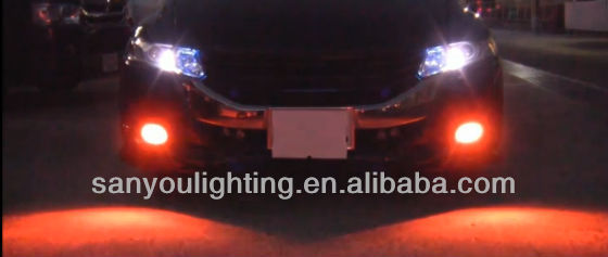 Auto 12V LED Bulbs Tri-Color Changeable Cree Fog Ligt Brake Light Tuning Light
