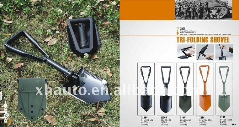 Standard US military multifunction folding snow shovel(1.5mm thickness)