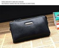 Портфель 2012 fashion men business clutch bag, genuine leather clutch brief case, business card holder, passport holder, card wallet