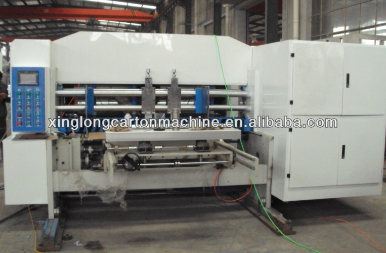 Auto carton box printing slotting die cutting machine