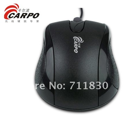 Free shipping  cheap mouse wholesalers Standard 3d optical wired mouse,mice C600/black