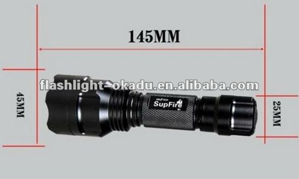 16850 rechargeable high power led flashlight