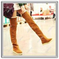 Женские ботинки Sell Women's Fashion Over the Knee Flat Heel Warm Winter Long Boots