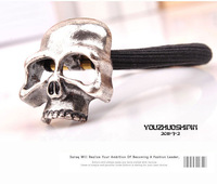 Ювелирное украшение для волос Vintage Gothic Skull Headband Jewelry Cheap Elastic Ponytail Holders Hair Scrunchies Ties for Women