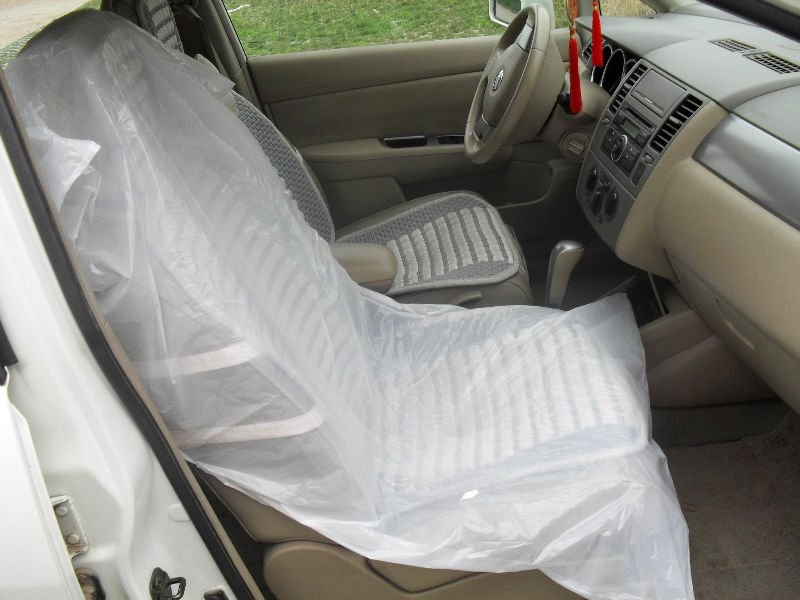 LDPE White Color Plastic Disposable Car Seat Cover View