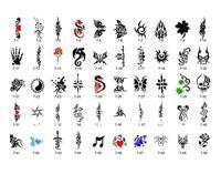 Товары для макияжа One Temporary Airbrush Tattoo Stencil Template Booklet No.7 PH-SB007