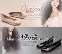 Водонепроницаемые мокасины для женщин 15 off per $150 order 2012 Best Selling Korean Style Sharp Toe Candy Color Flat Lady Shoes Women Sandal Shoes