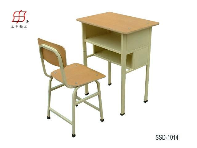 student school desk and chair wooden top and metal frame