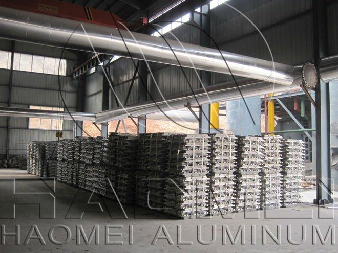 Aluminium ingot of aluminium sheet