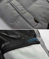 Мужской пуховик Mens Winter Skating Warm Cotton Jacket Fur Hoodie Coat Wadded Outwear Parka