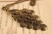 Колье-цепь Vintage Peacock Necklace Rhinestone Necklace Sweater Chain X4198