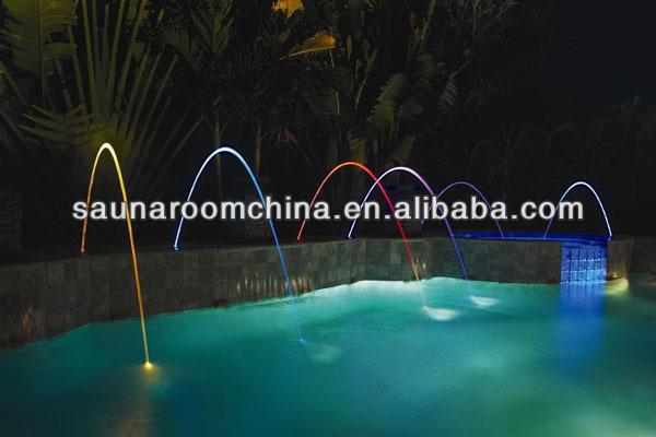 couleur arc en piscine fontaine saut jets fontaine d. Black Bedroom Furniture Sets. Home Design Ideas