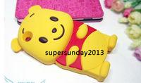 Чехол для для мобильных телефонов 2013 new brand Hot Selling Cute 3D Bear Soft Silicone Case Cover for iPhone 3 3G 3S Yellow