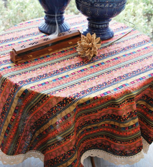 Free Shipping Wholesale &Retail  thai style Tablecloth cotton and linen Multi-Size