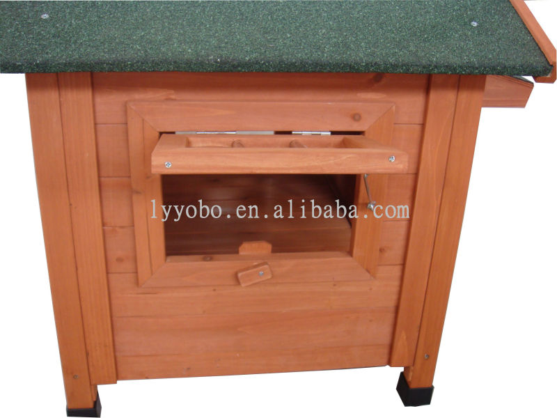 Wooden Dog House Weather Proof ,Nature Wood