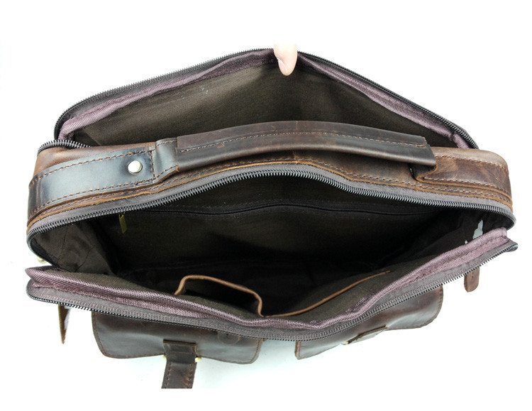 Vintage Casual Genuine Leather Cowhide Crazy Horse Leather Men