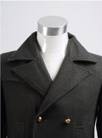 Маскарадный костюм Who is Doctor Dr. Dark Green Long Wool Trench Coat