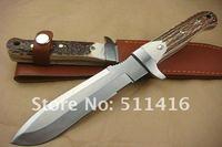 Охотничий нож OEM PUMA.TEC ANTLER HANDLE TREASURE KNIFE WITH LEATHER SHEATH DREAM0529